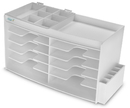 TrippNT 50966 White PVC and Clear Acrylic Large GC Column and Supplies Cabinet with Door: 26 x 14 x 11 inches WHD