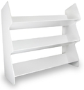Series: White PVC Tilted Triple Safety Shelves in 2 Sizes