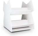 Series: White PVC Rotating Tilted Safety Shelves in 2 Sizes