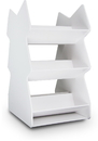 TrippNT Series: White PVC Rotating Tilted Safety Shelves in 2 Sizes
