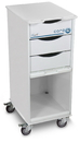 TrippNT Polyethylene Core SP Space Saving Lab Cart With Acrylic Door: 15 x 35 x 19 inches WHD