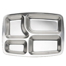 Aspire Fast Food Tray / Lunch Container With Multiple Compartment, 1 Pc