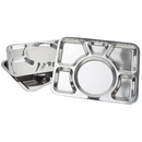 Aspire Divided Dinner Trays Stainless Steel Lunch Containers, 3 Pieces