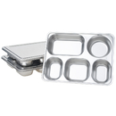 Aspire Bento Lunch Box with Stainless Steel Lid, Divided Food Plate, 3 Sets
