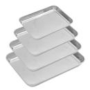 Aspire Baking Sheet Set, 304 Stainless Steel Cookie Sheet Set Toaster Oven Tray Pan Rectangle Size