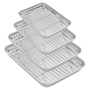 Aspire Baking Sheets and Racks Set, Stainless Steel Oven and Dishwasher Safe Wire Rack, Easy Clean