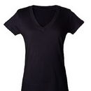 Tultex 214 Ladies' Slim Fit Fine Jersey V-Neck Tee