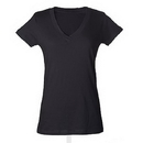 Tultex 244 Ladies' Poly-Rich Blend V-Neck Tee