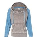 J. America 8926 Ladies Zen Contrast Pullover Hood