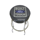 K&M 9773 Built Ford Tough Logo Barstool - Gray Vinyl