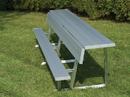 Trigon Sports PBS08 8'' Portable Team Bench w/ Back & Shelf