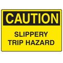 Seton 00396 OSHA Caution Signs - Slippery Trip Hazard