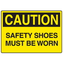 Seton 00510 OSHA Caution Signs - Safety Shoes Must Be Worn