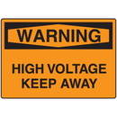 Seton 06084 OSHA Warning Signs - Warning High Voltage Keep Away