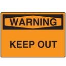 Seton 06099 OSHA Warning Signs - Warning Keep Out