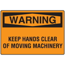 Seton 06174 OSHA Warning Signs -Warning Keep Hands Clear Of Moving Machinery