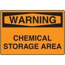 Seton 06221 OSHA Warning Signs - Warning Chemical Storage Area