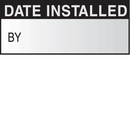 Seton 06438 Date Installed By Write On Self Debossing Labels