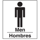 Seton 08001 Polished Plastic Office Signs - Men/Hombres