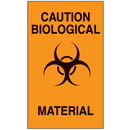 Seton 08073 Caution Biological Material Biohazard Labels