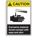 Seton ANSI Z535 Safety Signs - Caution Corrosive Material