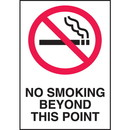 Seton No Smoking Beyond This Point Sign
