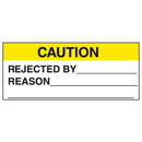Seton 11156 Caution Rejected By Reason Write On Labels