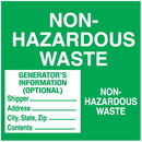 Seton 11501 Non-Hazardous Waste Container Labels