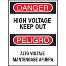 Seton Bilingual Safety Signs - High Voltage Keep Out