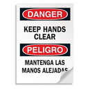 Seton Bilingual Safety Signs - Danger/Peligro - Keep Hands Clear