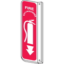 Seton 13895 Fire Extinguisher 2-Way View Fire Safety Signs