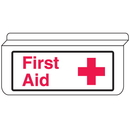 Seton 13925 First Aid Signs - Drop Ceiling Double-Sided Signs