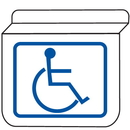 Seton 13938 Handicapped Accessible Signs - Drop Ceiling Double-Sided