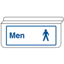 Seton 13943 Mens Restroom Signs -Drop Ceiling Double-Sided Signs