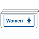 Seton 13944 Womens Restroom Signs - Drop Ceiling Double-Sided Signs