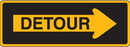 Seton 14151 Traffic Signs - Detour with Right Arrow