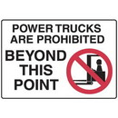 Seton Forklift Safety Signs - Power Trucks Are Prohibited