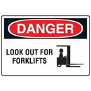 Seton Forklift Safety Signs - Danger Look Out For Forklifts