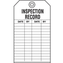 Seton 15722 Safety Inspection Tags - Inspection Record