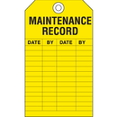 Seton 15737 Safety Inspection Tags - Maintenance Record