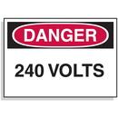 Seton 1583B Lockout Hazard Warning Labels- Danger 240 Volts