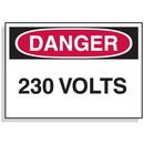 Seton 1586B Lockout Hazard Warning Labels- Danger 230 Volts