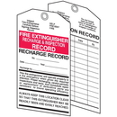 Seton 16043 Fire Extinguisher Tags - Recharge and Inspection Record