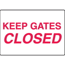 Seton 17283 Keep Gates Closed Gate Directional Signs