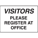 Seton 17287 Visitors Please Register At Office Gate Directional Signs