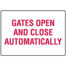 Seton 17292 Gates Open and Close Automatically Gate Directional Signs