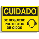 Seton 17484 Spanish Hazard Warning Labels - Cuidado Se Requiere Protector De Oidos