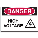 Seton Hazard Warning Labels - Danger High Voltage (With Graphic) - 17518