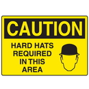 Seton 17917 OSHA Caution Signs - Hard Hats Required In This Area