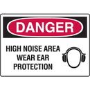 Seton 18119 Danger Signs - High Noise Area Wear Ear Protection